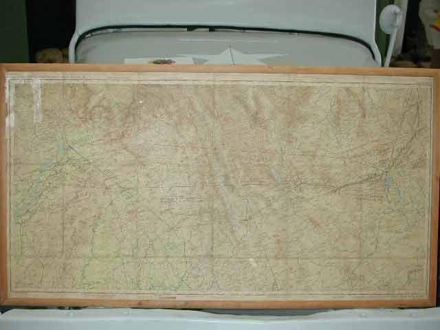 Original early map of Kunming, China