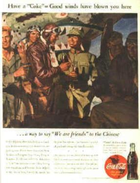 Flying Tigers Coca-Cola Advertisement from World War Two